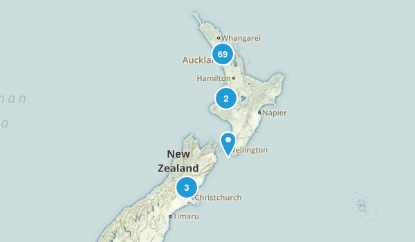 Auckland Region, New Zealand Map