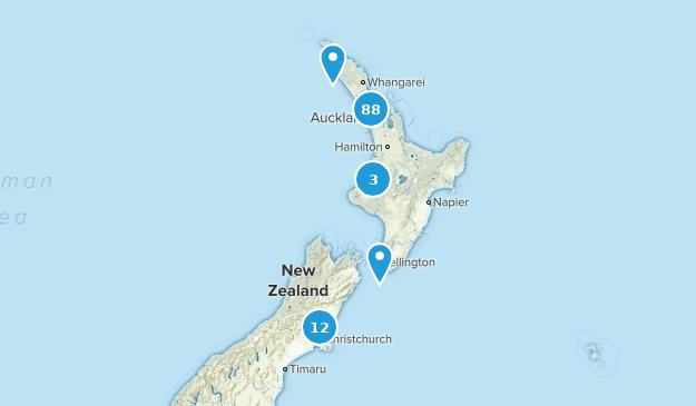 Aukland, New Zealand Map