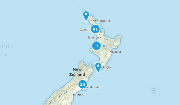 Aukland, New Zealand Cities Map