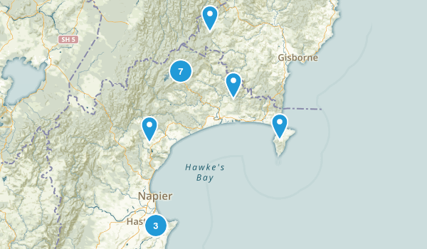 Hawke's Bay Region, New Zealand Map