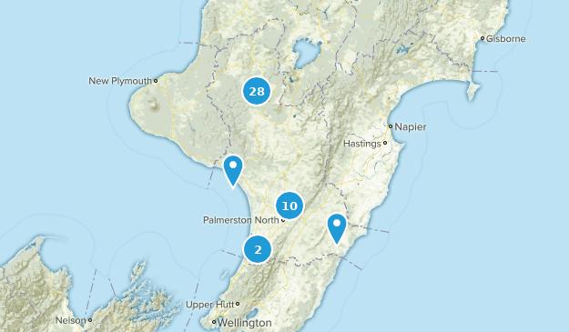 Manawatu-Wanganui, New Zealand Map