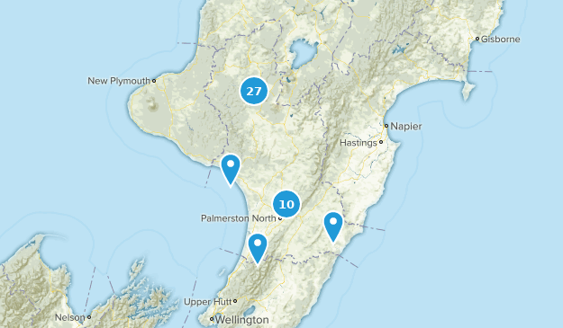 Manawatu-Wanganui Region, New Zealand Cities Map