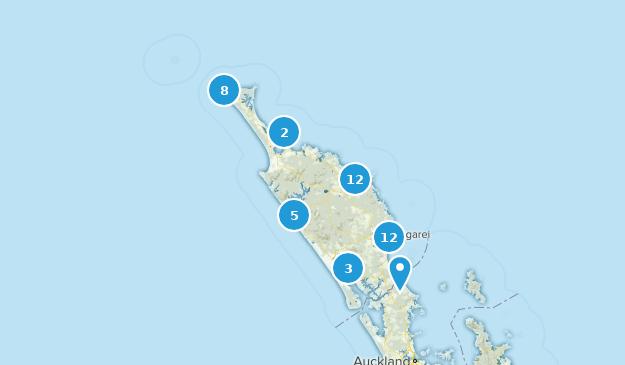 Northland Region, New Zealand Map
