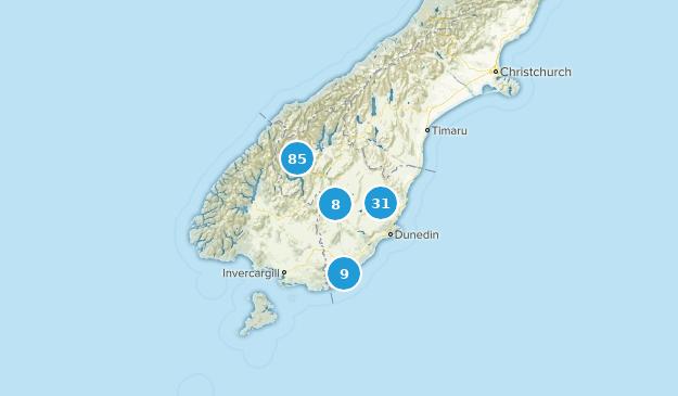 Otago, New Zealand Cities Map