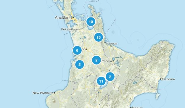 Waikato Region, New Zealand Cities Map