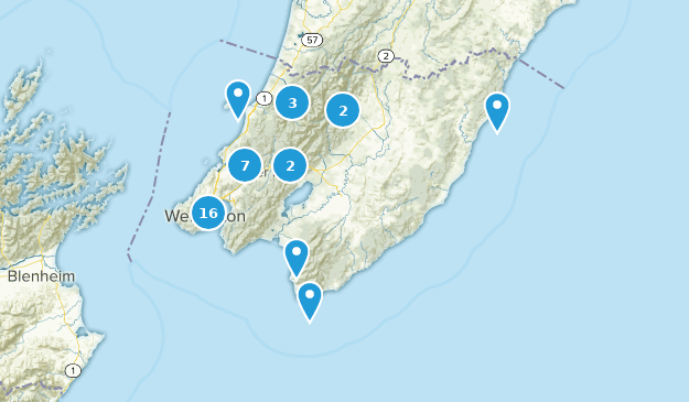 Wellington, New Zealand Cities Map
