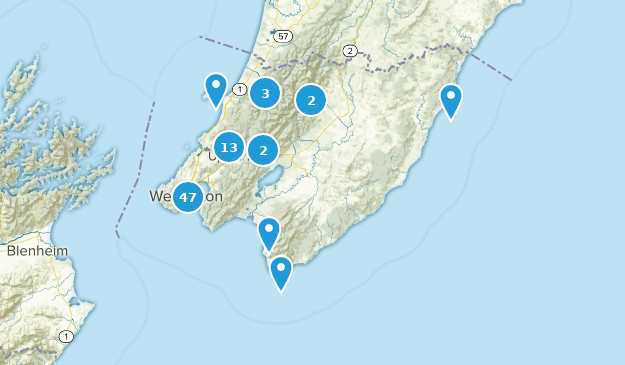 Wellington, Neuseeland Map