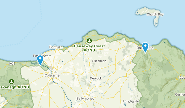 Map Of Northern Ireland Cities.Best Cities In Coleraine Northern Ireland Alltrails