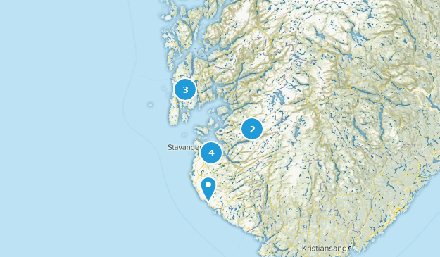 Rogaland, Norway Map