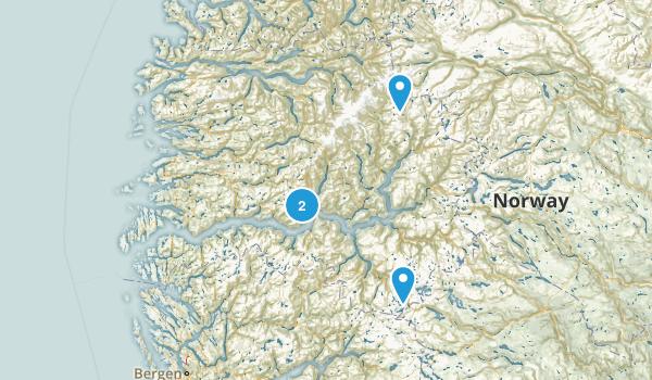 Sogn og Fjordane, Norway Map