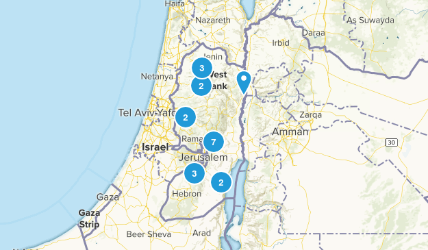 West Bank, Palestine Map