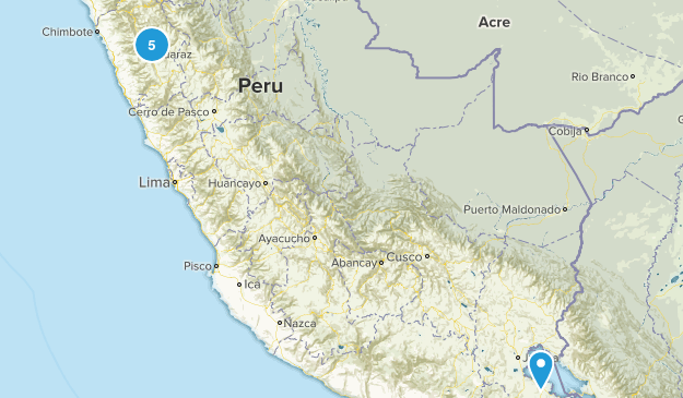 Ancash, Peru Cities Map