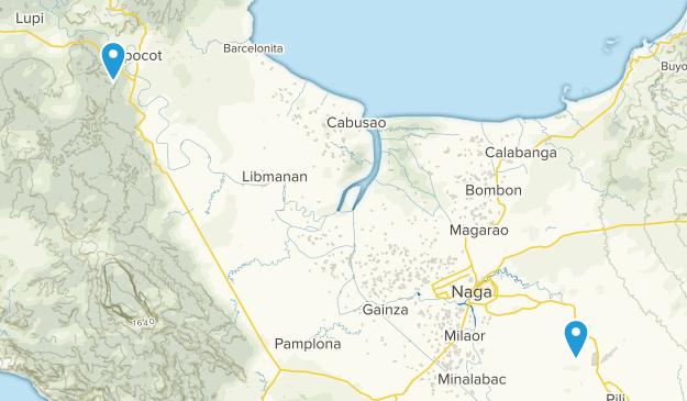 Camarines Sur, Philippines Cities Map