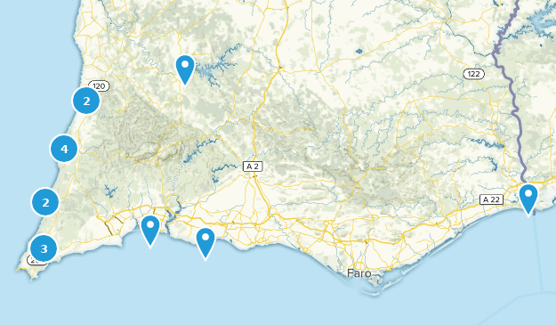 Algarve, Portugal Cities Map