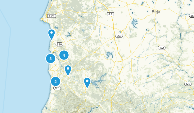 Beja, Portugal Cities Map