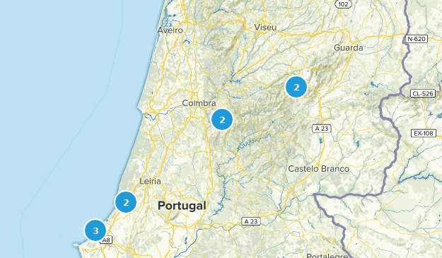Center Region, Portugal Cities Map