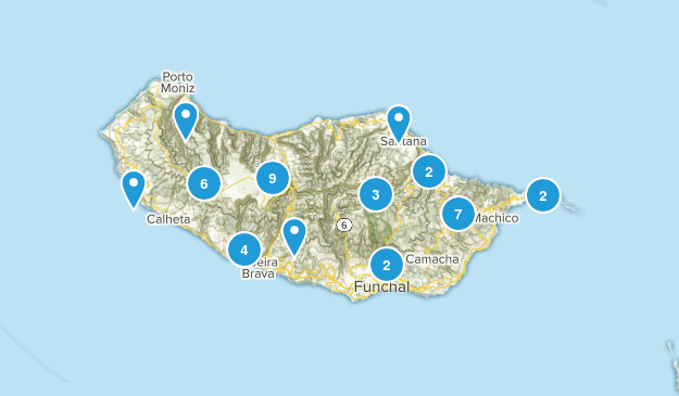 Madeira Island, Portugal Map