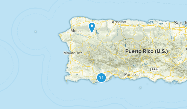 West Region, Puerto Rico Map