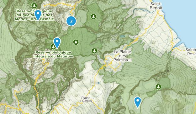 Saint-Benoît, Reunion Map
