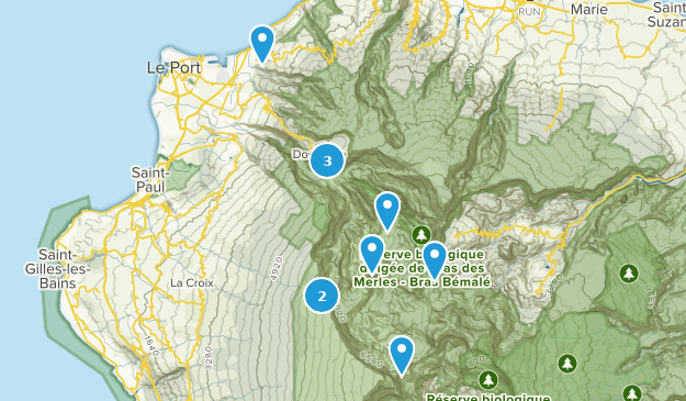 Saint-Paul, Reunion Cities Map