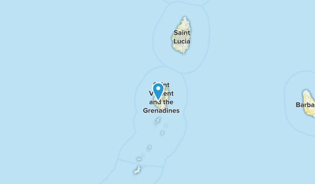 Saint David, Saint Vincent and the Grenadines Cities Map