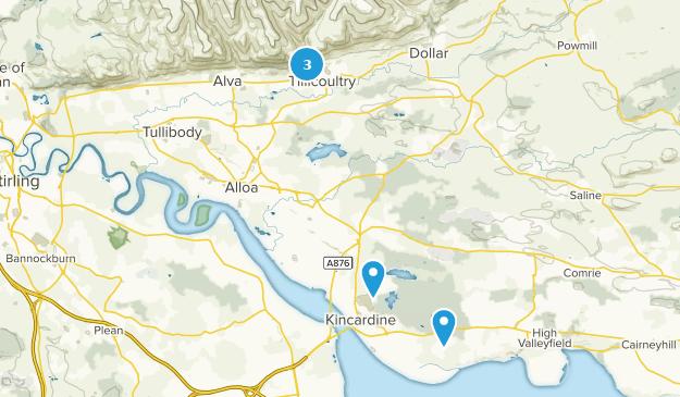 Clackmannanshire, Scotland Cities Map
