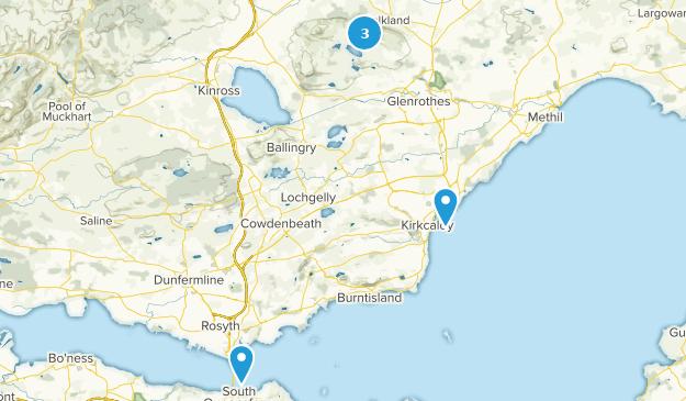 Fife, Scotland Cities Map