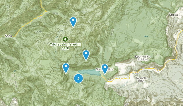 Bohinj, Slovenia Cities Map