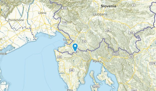 Hrpelje-Kozina, Slovenia Map