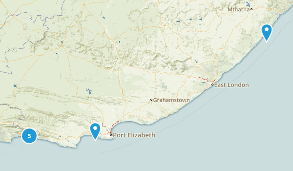 Eastern Cape, South Africa Map
