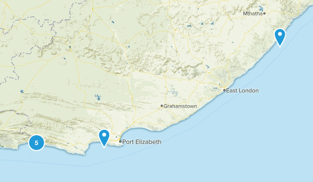 Eastern Cape, South Africa Cities Map