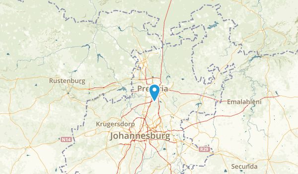Gauteng, South Africa Map
