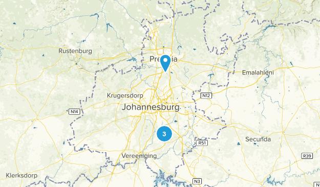 Gauteng, South Africa Cities Map