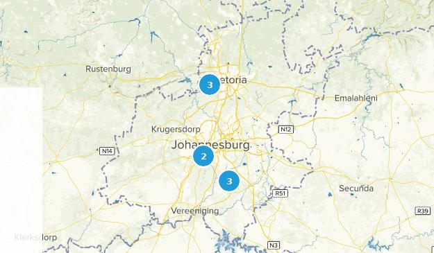 Gauteng, South Africa Map