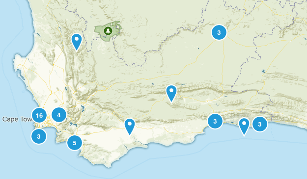 Western Cape, South Africa Map