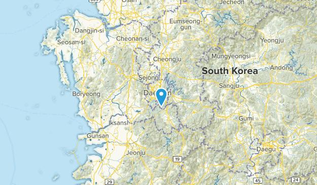 Daejeon, South Korea Cities Map