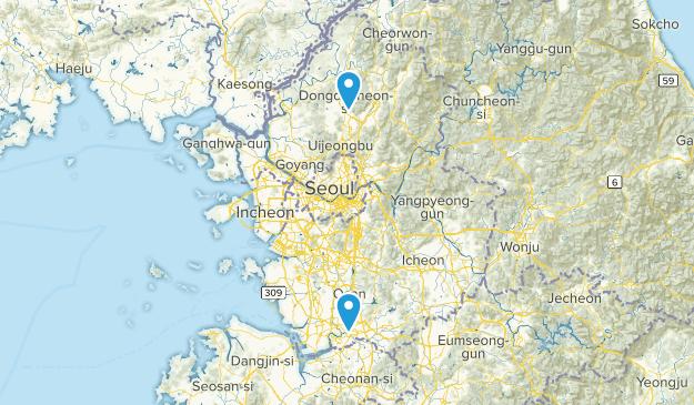 Gyeonggi, South Korea Cities Map