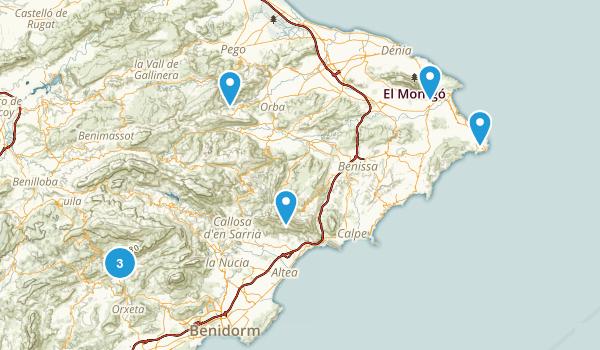 Alicante/Alacant, Spain Map