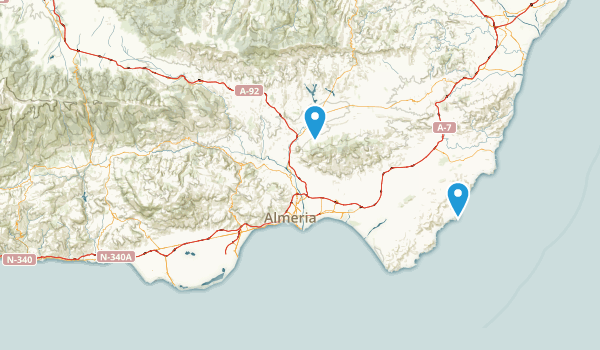 Almería, Spain Map