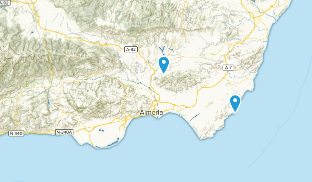 Map Of Spain Almeria.Best Cities In Almeria Spain Alltrails