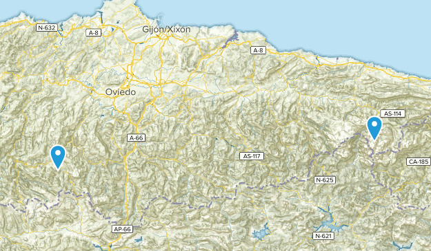 Asturien, Spanien Cities Map