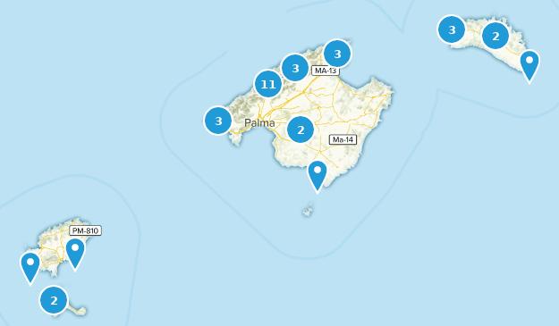 Balearische Inseln, Spanien Map