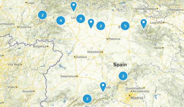 Castile and León, Spain Map