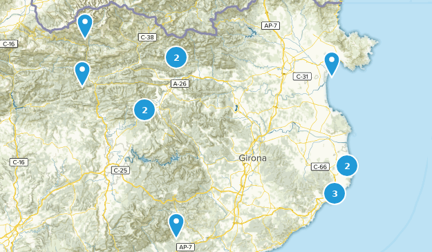 Girona, Spain Cities Map