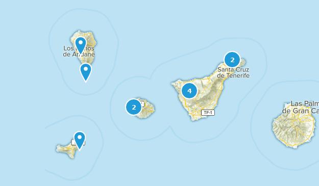 Santa Cruz de Tenerife, Spain Cities Map