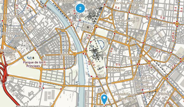 Sevilla, Spain Map