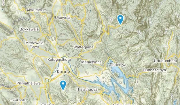 Kandy, Sri Lanka Cities Map