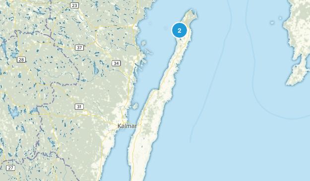 Kalmar län, Sweden Cities Map