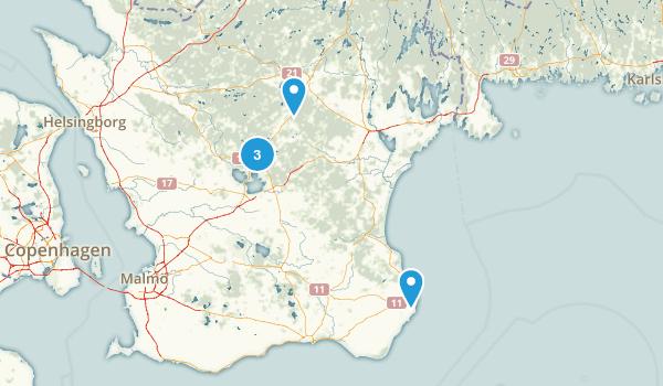 Best Trails In Skåne Län AllTrailscom - Sweden map län