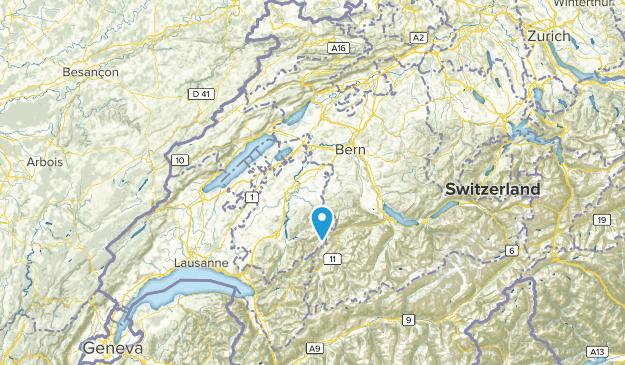 Fribourg, Switzerland Map